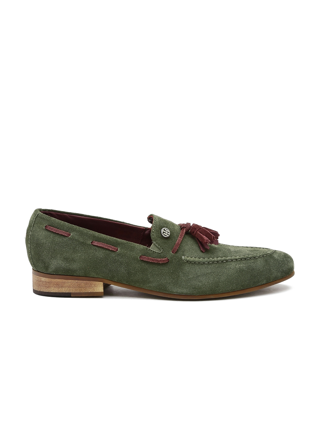 4de798e98816 Buy Tommy Hilfiger Men Olive Green Suede Loafers - Casual Shoes for ...