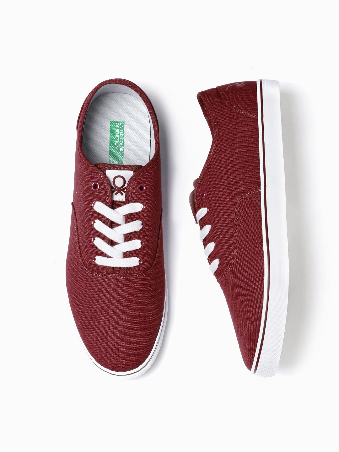 Buy United Colors Of Benetton Men Maroon Sneakers Casual Shoes For