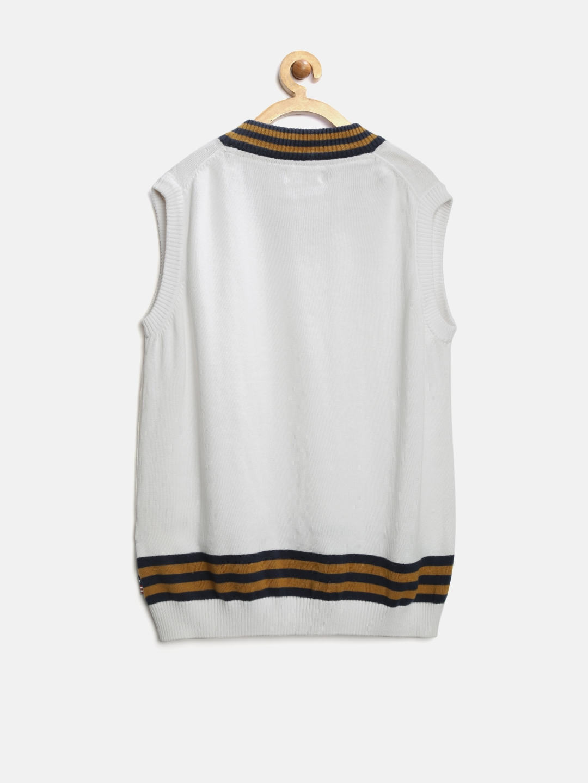 f8c773a54b76 Buy U.S. Polo Assn. Kids Boys White Sleeveless Sweater - Sweaters ...
