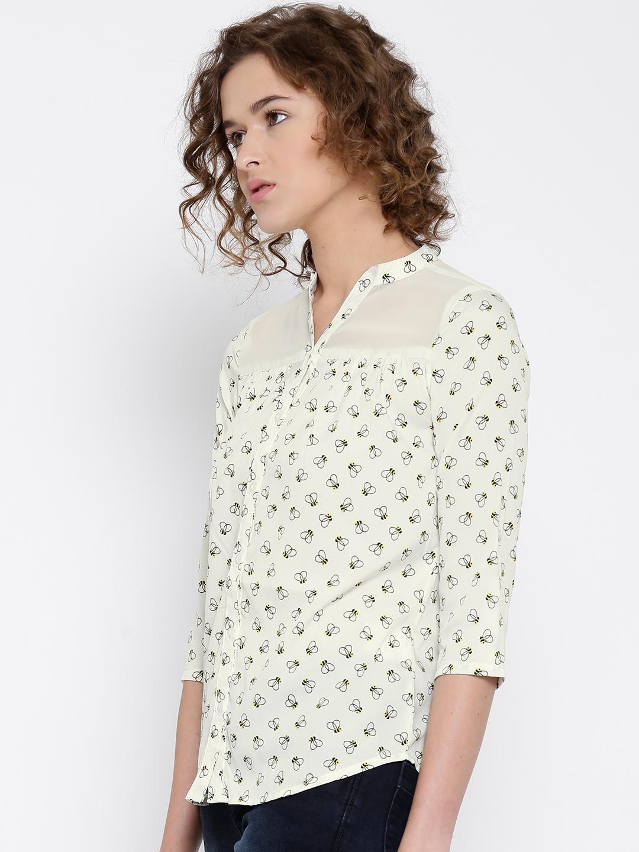 a7b5468f88b44d Buy Honey By Pantaloons Off White Polyester Printed Shirt - Shirts ...