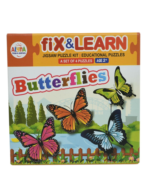DukieKooky Kids Set Of 4 Fix and Learn Butterflies Puzzles