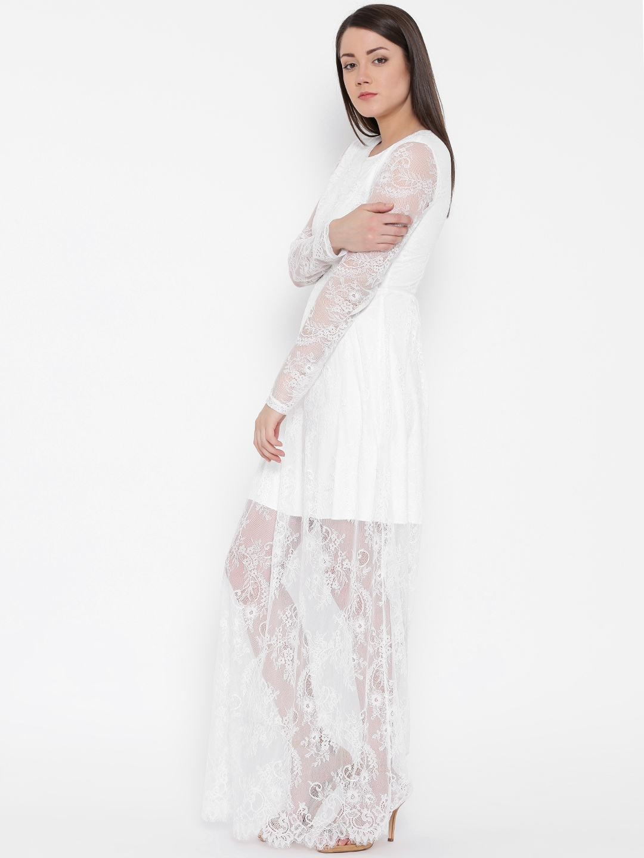 05ae989535b Buy Vero Moda Women White Lace Maxi Dress - Dresses for Women ...