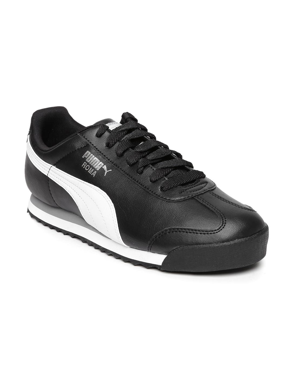 c08d88aa61f0 Buy Puma Men Black Roma Basic Sneakers - Casual Shoes for Men ...