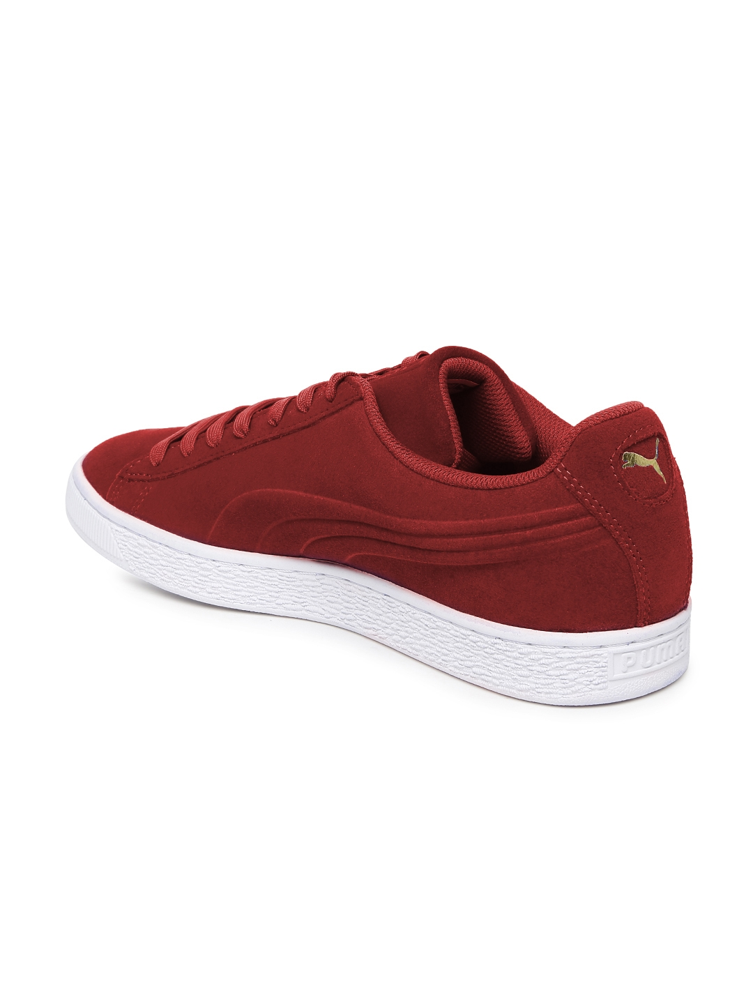 Buy PUMA Unisex Red Classic Debossed Q3 Suede Sneakers - Casual ... e37b243ff