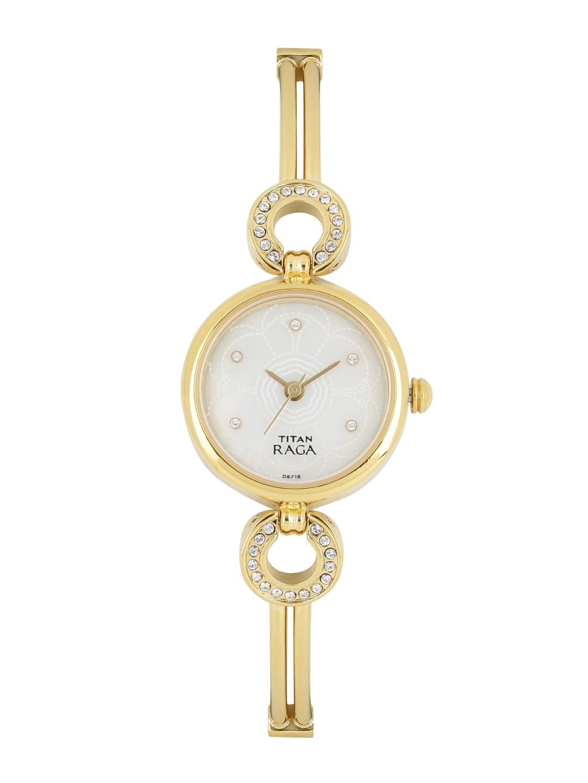 Titan Raga Women Pearly White Dial Watch NH311YM10