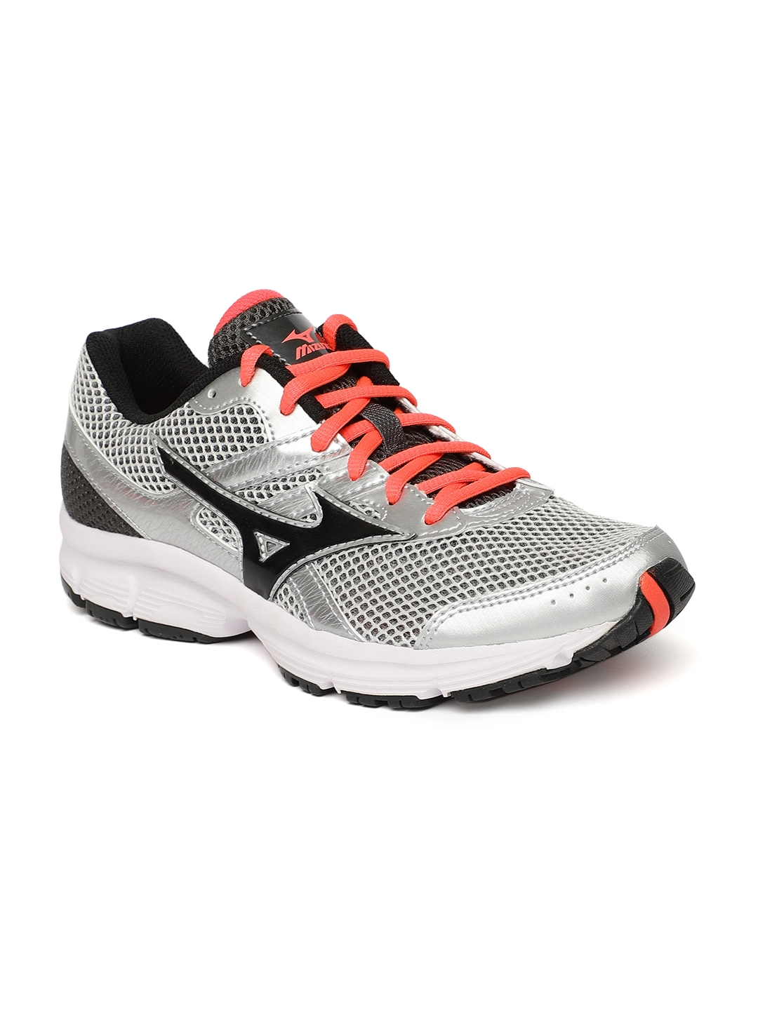 Mizuno Women Silver Toned   Black SPARK Running Shoes