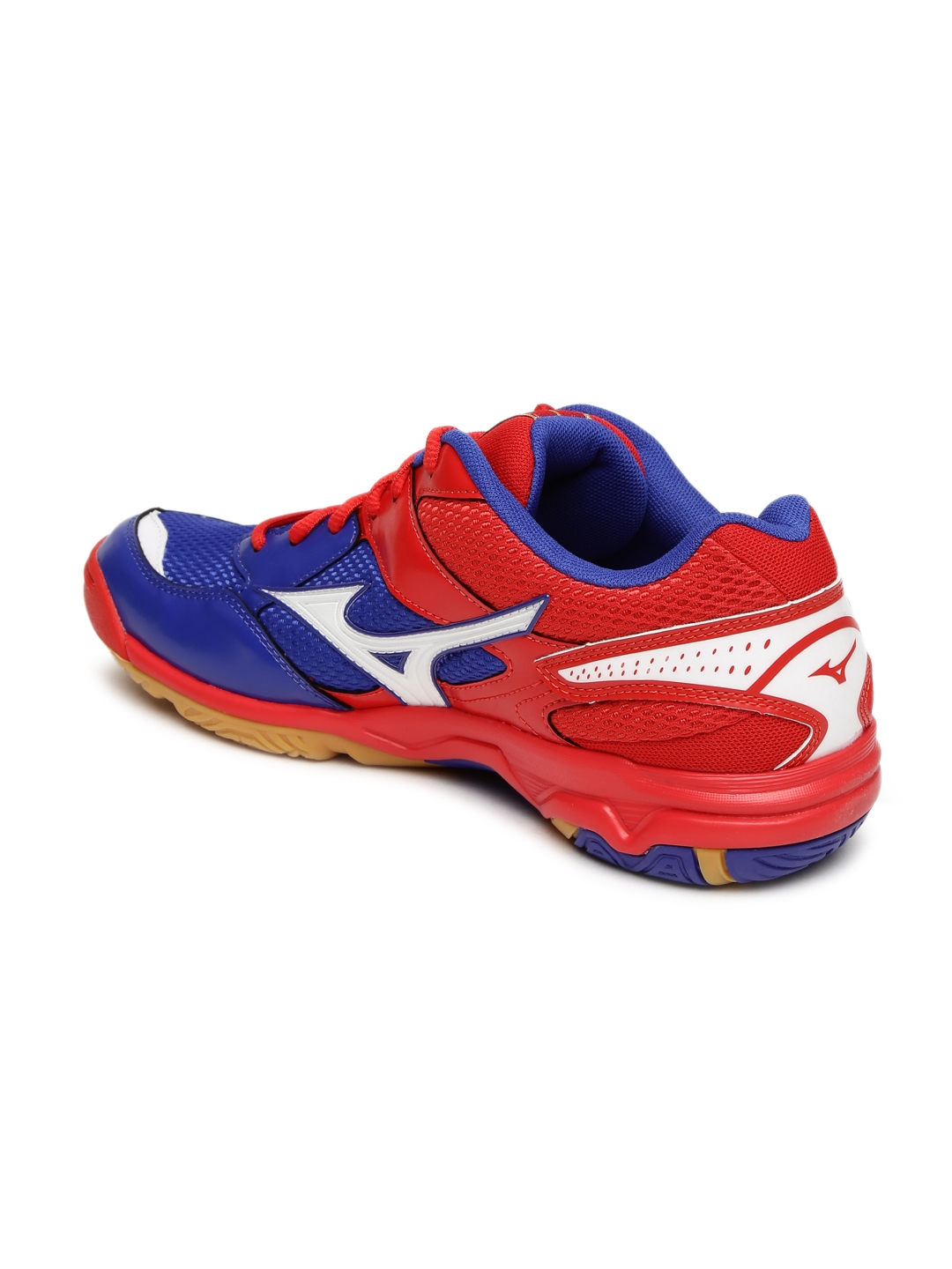 14ef8a67f1d0 Buy Mizuno Men Blue & Red Wave Twister 4 Indoor Shoes - Sports Shoes ...