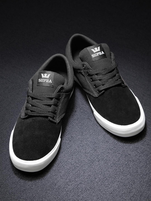 c223ec28df9e Buy Supra Men Black Solid Regular Sneakers - Casual Shoes for Men ...
