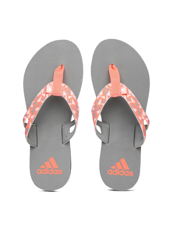 f83cc3d13fdd3 Buy ADIDAS Women Peach   Grey OZOR WS Printed Flip Flops - Flip ...