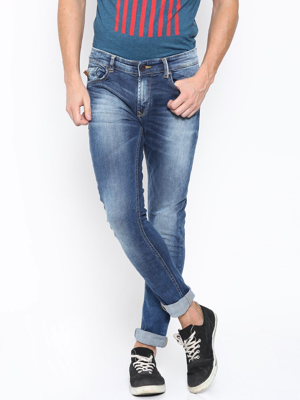 SPYKAR Men Blue Super Skinny Fit Low Rise Stretchable Jeans