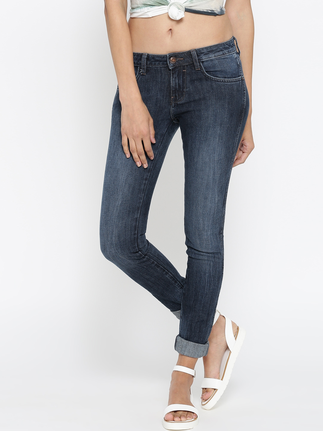 39b3e2c3ac394 Buy Wrangler Blue Low Rise Jeggings Fit Stretchable Jeans - Jeans ...