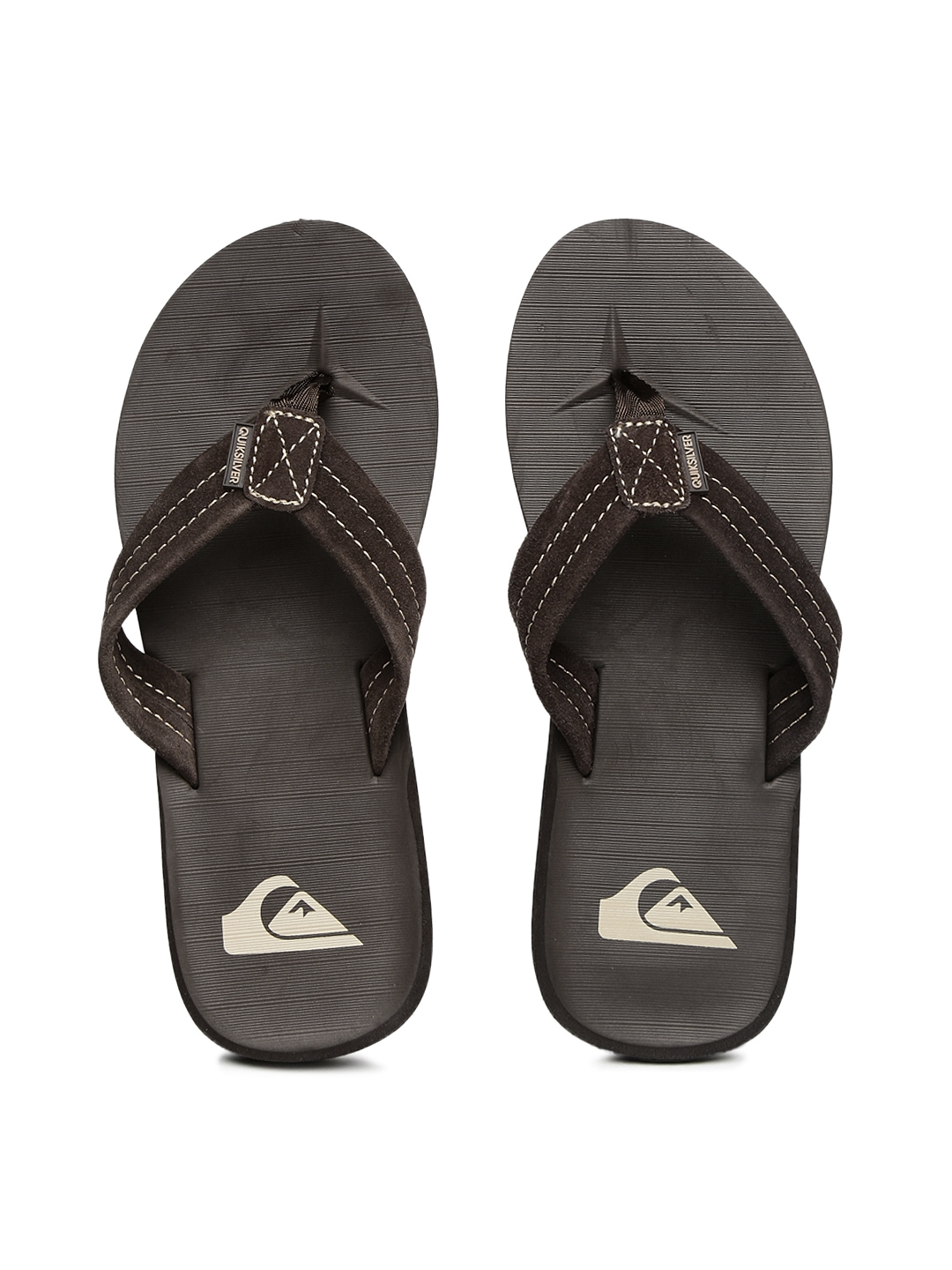 e036274bcb17 Buy Quiksilver Men Brown Carver Suede Flip Flops - Flip Flops for ...