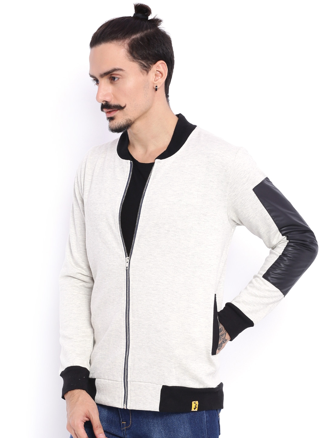 0a99c13d6 Buy Campus Sutra Grey Bomber Jacket - Jackets for Men 1474165 | Myntra