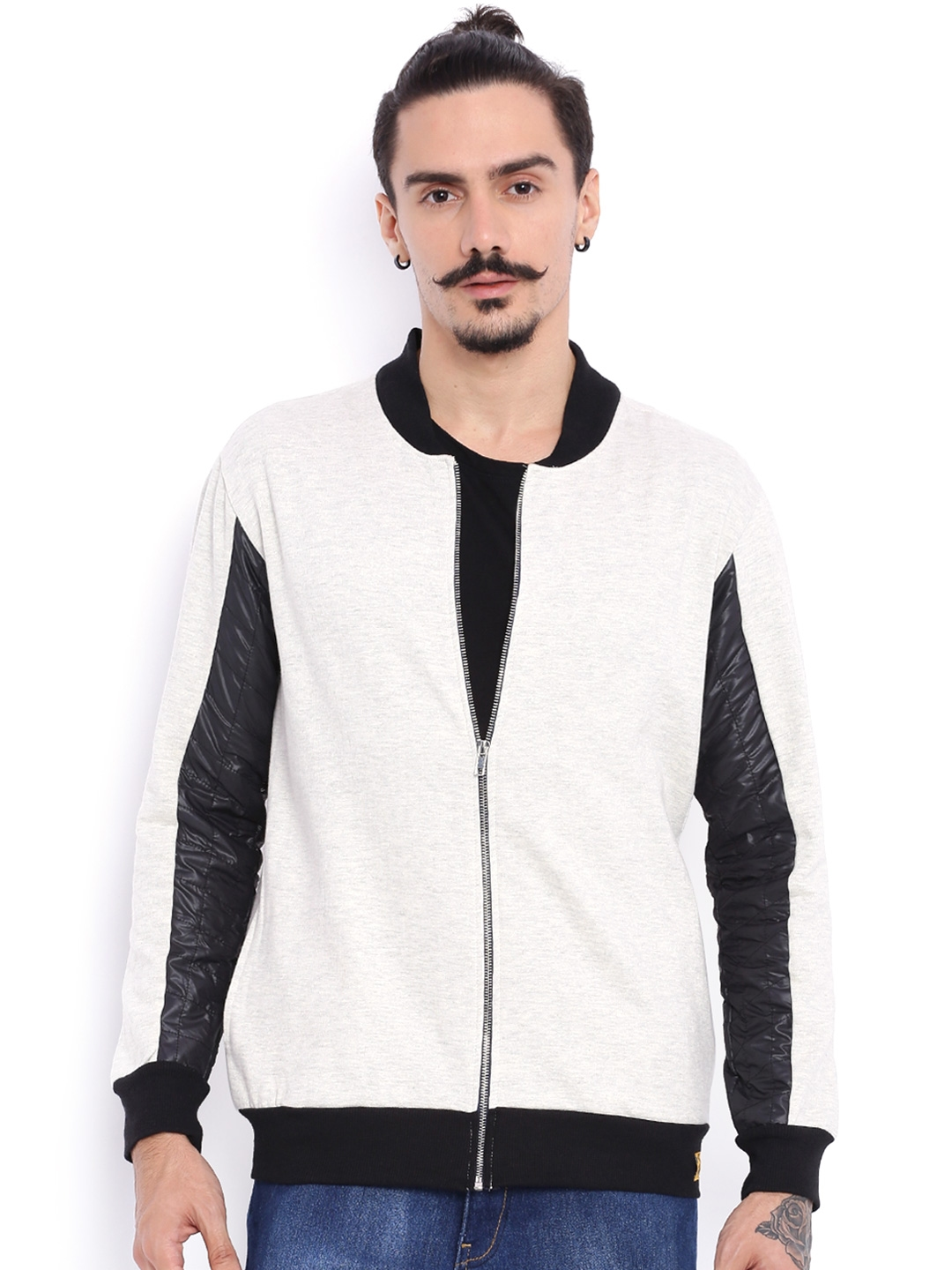 eff4c9927 Buy Campus Sutra Grey Bomber Jacket With Quilted Detail - Jackets ...