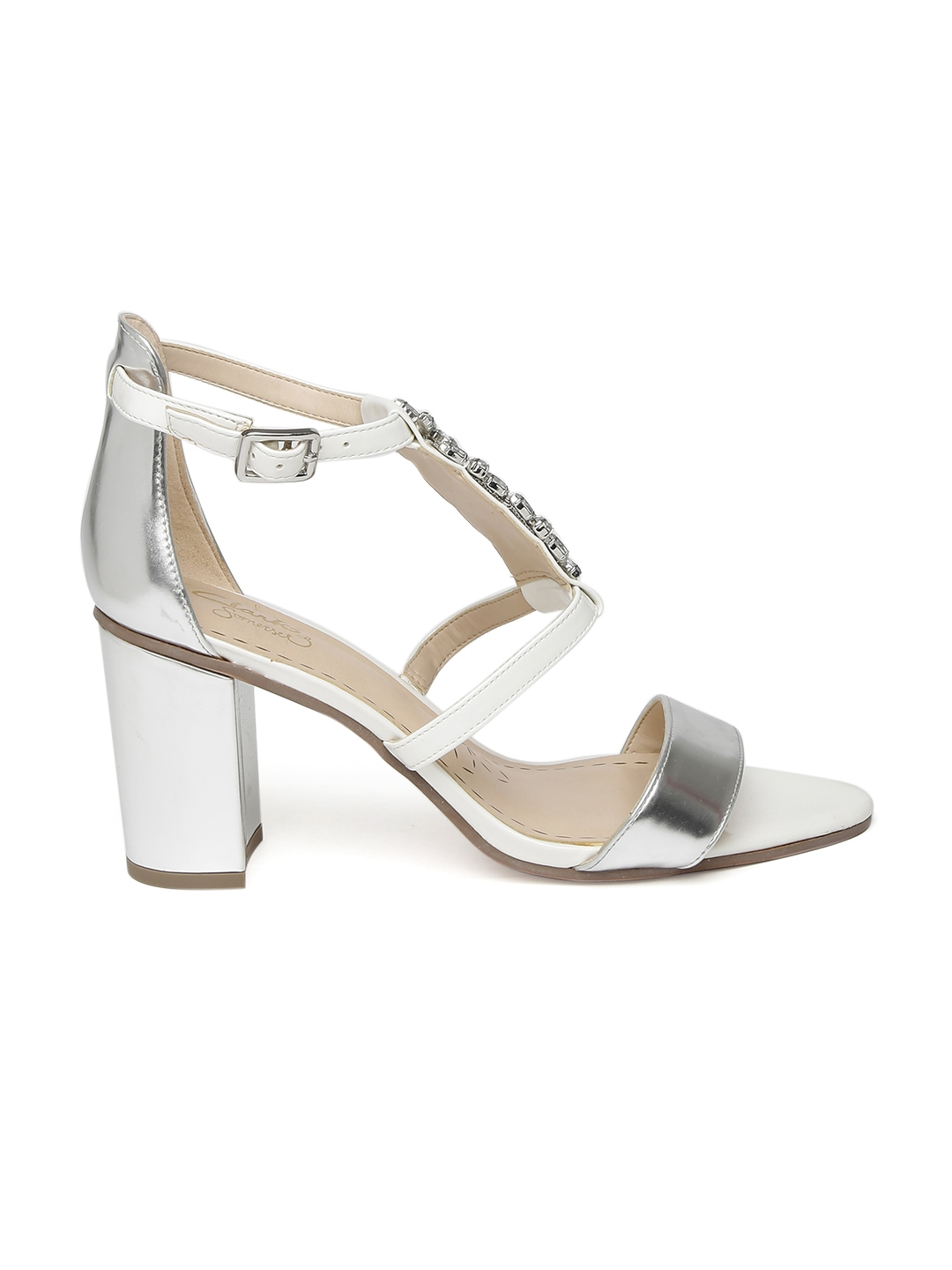 899811a442b Buy Clarks Women White   Silver Toned Embellished Heels - Heels for ...