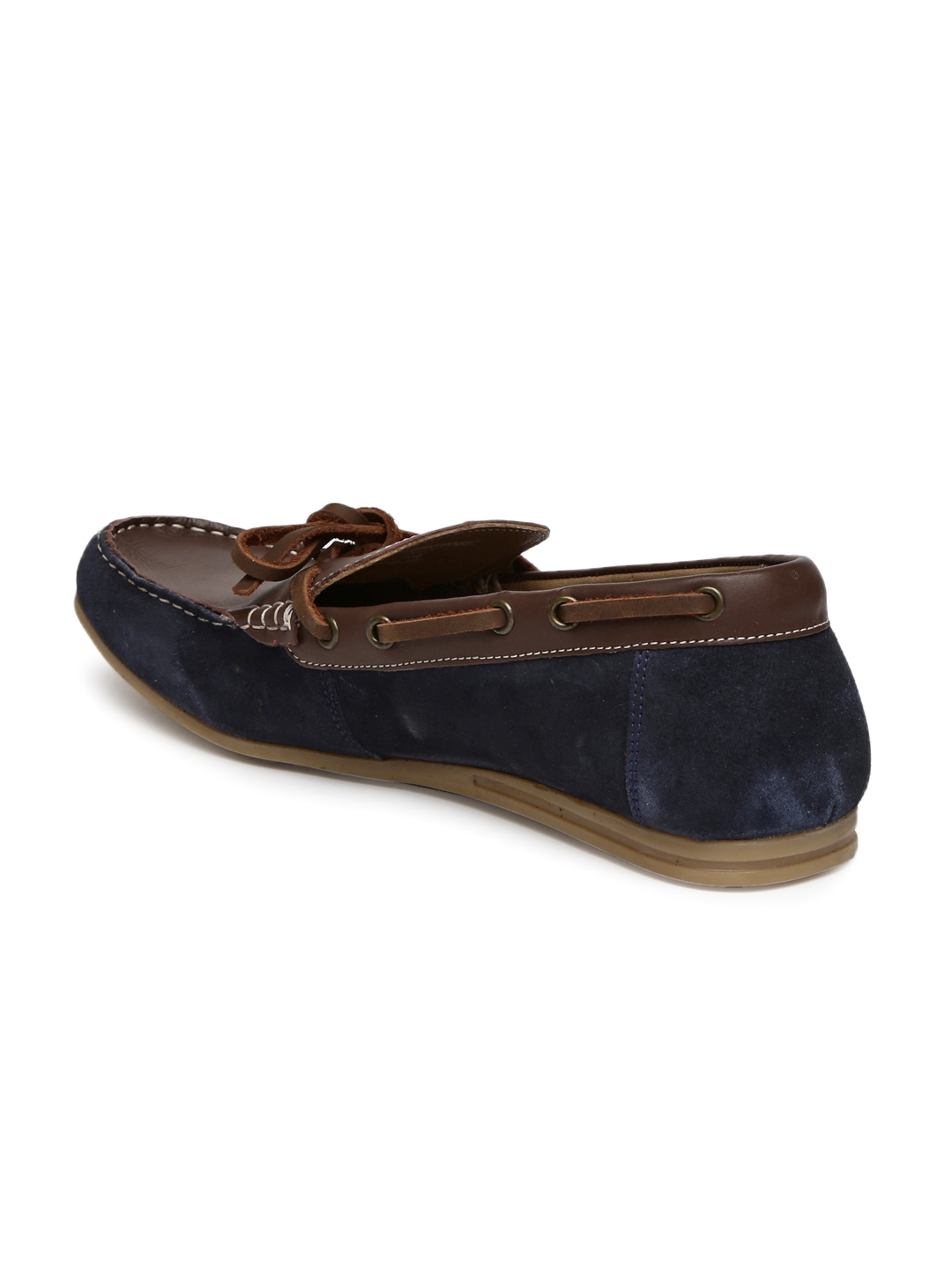 Buy Van Heusen Men Brown   Navy Blue Leather Casual Shoes - Casual ... 6ab9e4ed5