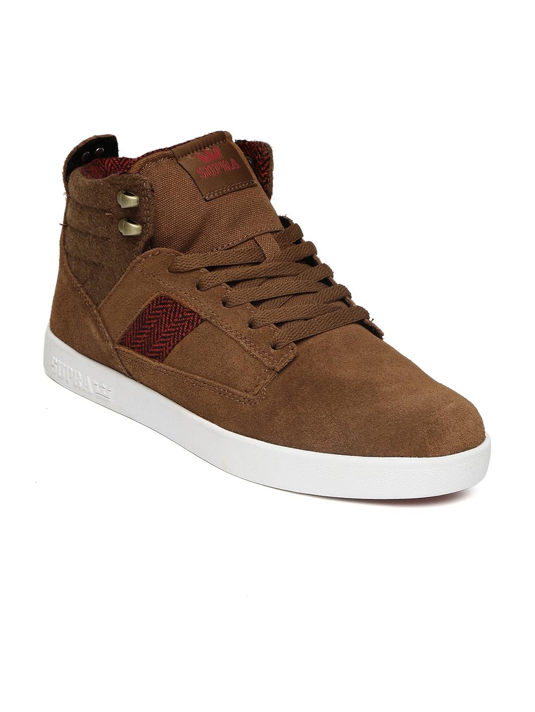 e0b67e4eb9fd Buy Supra Men Brown Bandit Mid Top Sneakers - Casual Shoes for Men ...