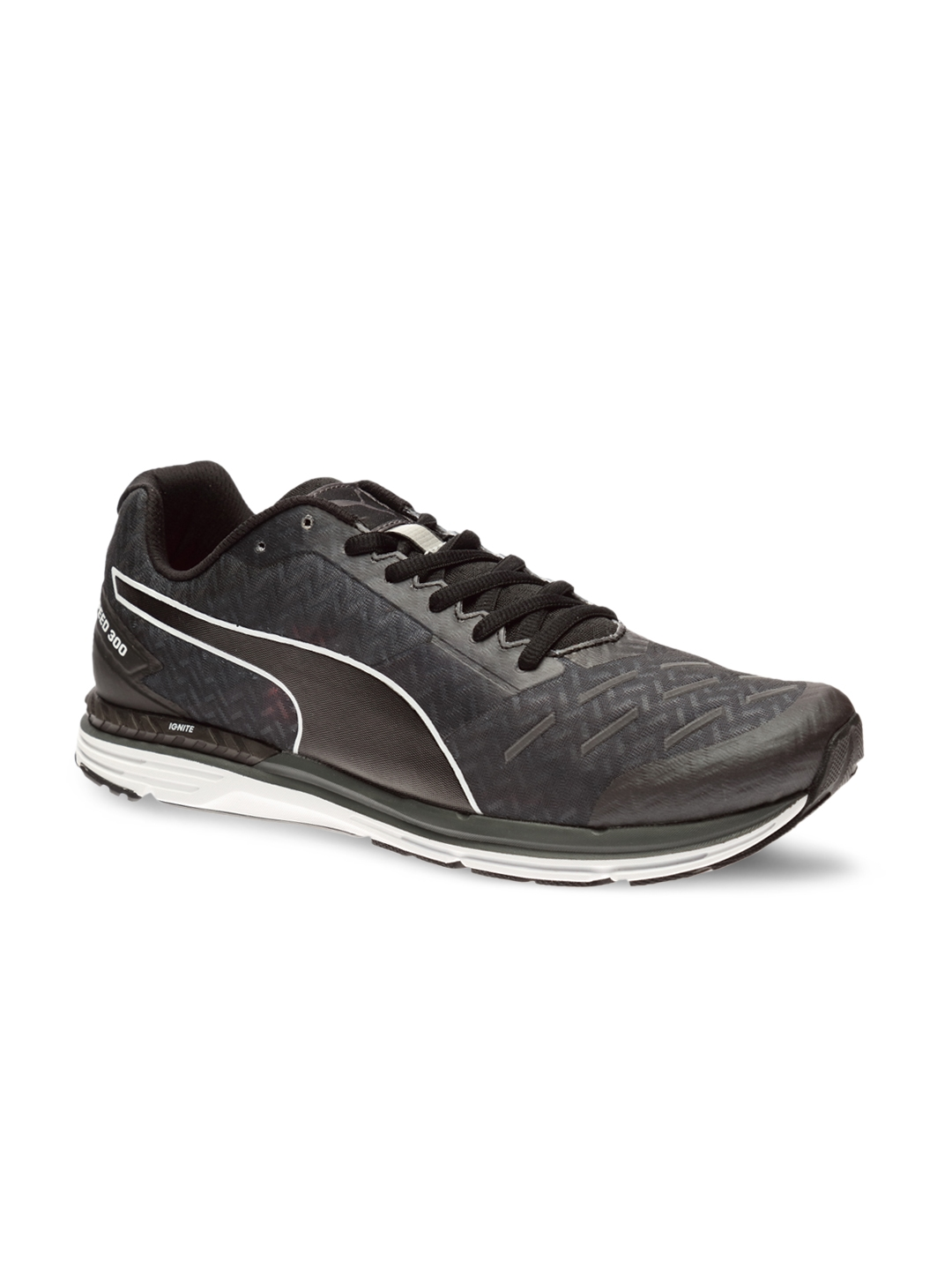 8eafe3ac36d Buy PUMA Men Charcoal Grey Speed 300 IGNITE Running Shoes - Sports ...
