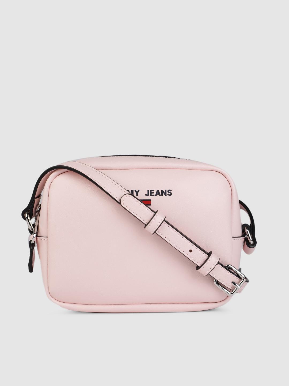 Tommy Hilfiger Women Pink Solid Camera Bag With Sling Strap