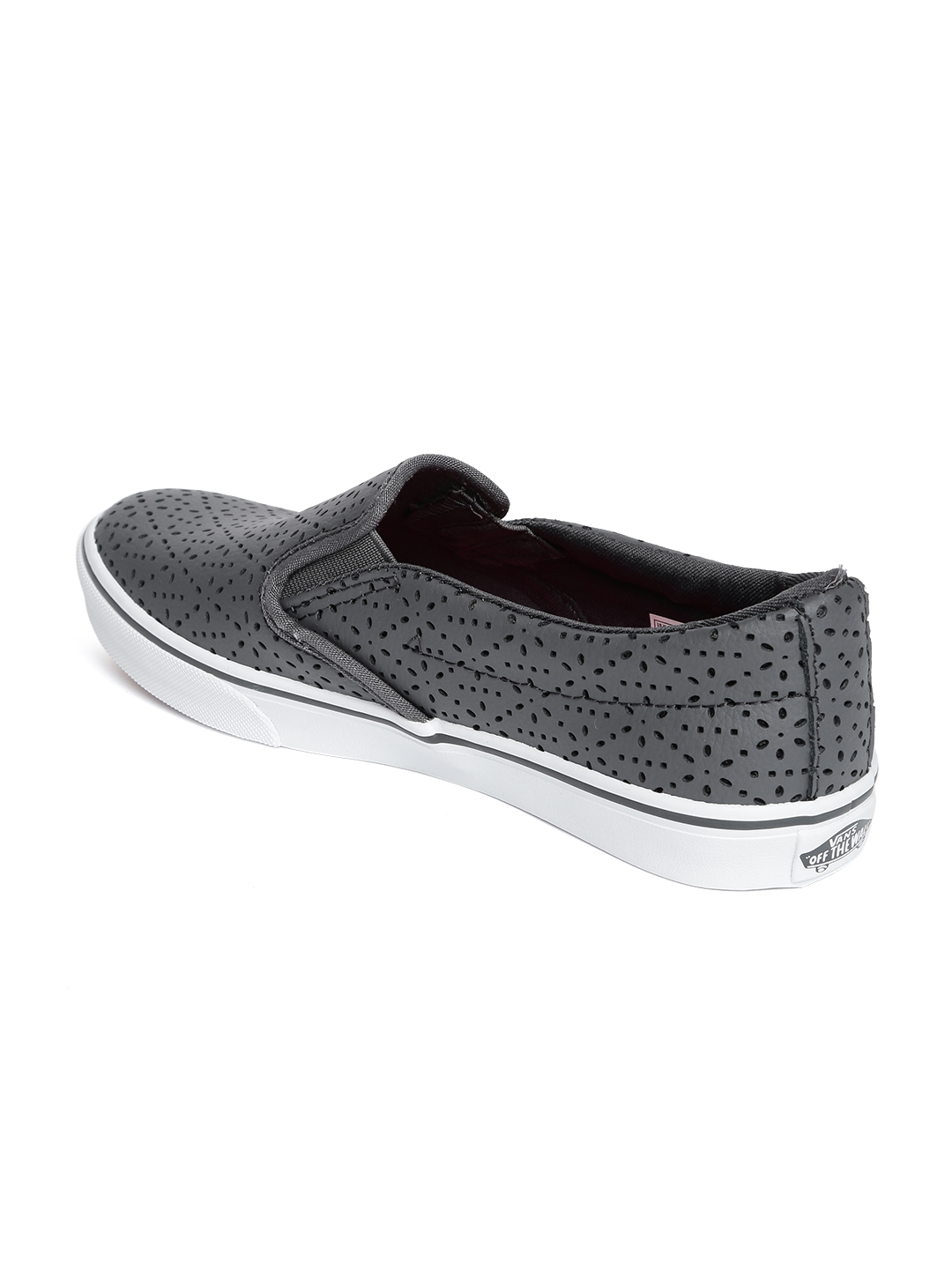 Buy Vans Women Grey Leather Asher Slip On Sneakers - Casual Shoes ... 29b170335