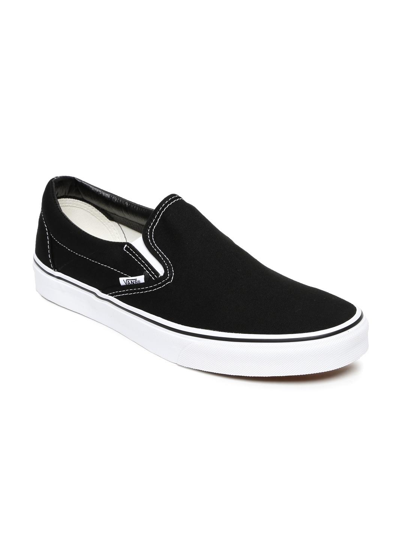 79c556345d3 Buy Vans Men Black Classic Slip On Sneakers - Casual Shoes for Men ...