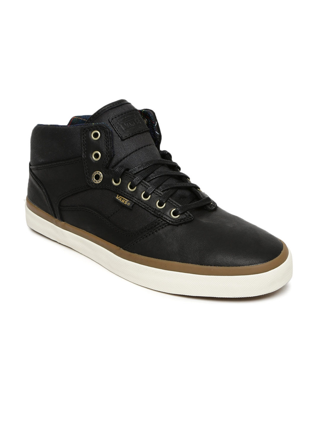 e92ec1703b6349 Buy Vans Men Black Bedford Leather Sneakers - Casual Shoes for Men ...