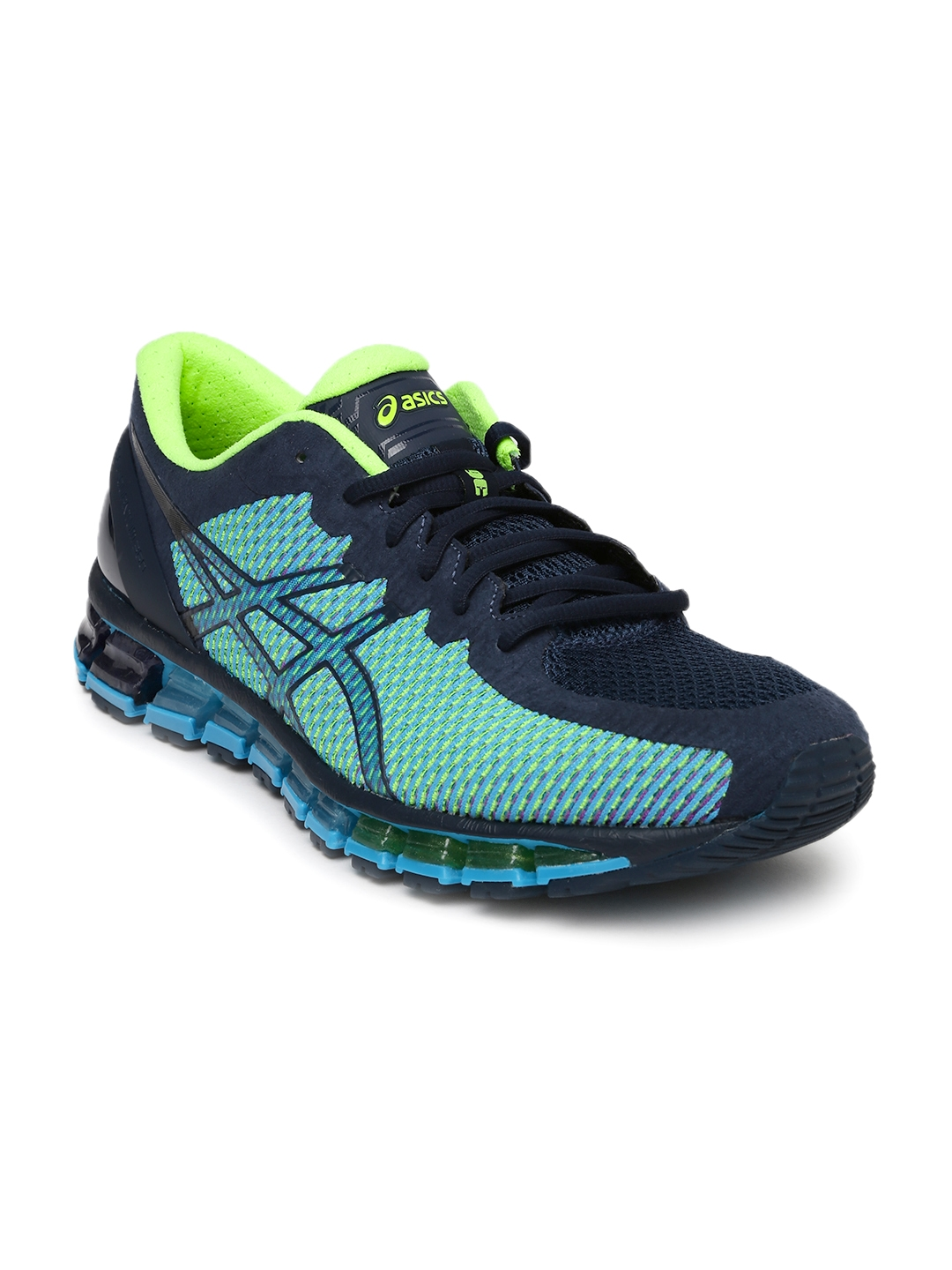 7d64ae1ebc10 Buy ASICS Men Navy Blue Gel Quantum 360 2 Running Shoes - Sports ...