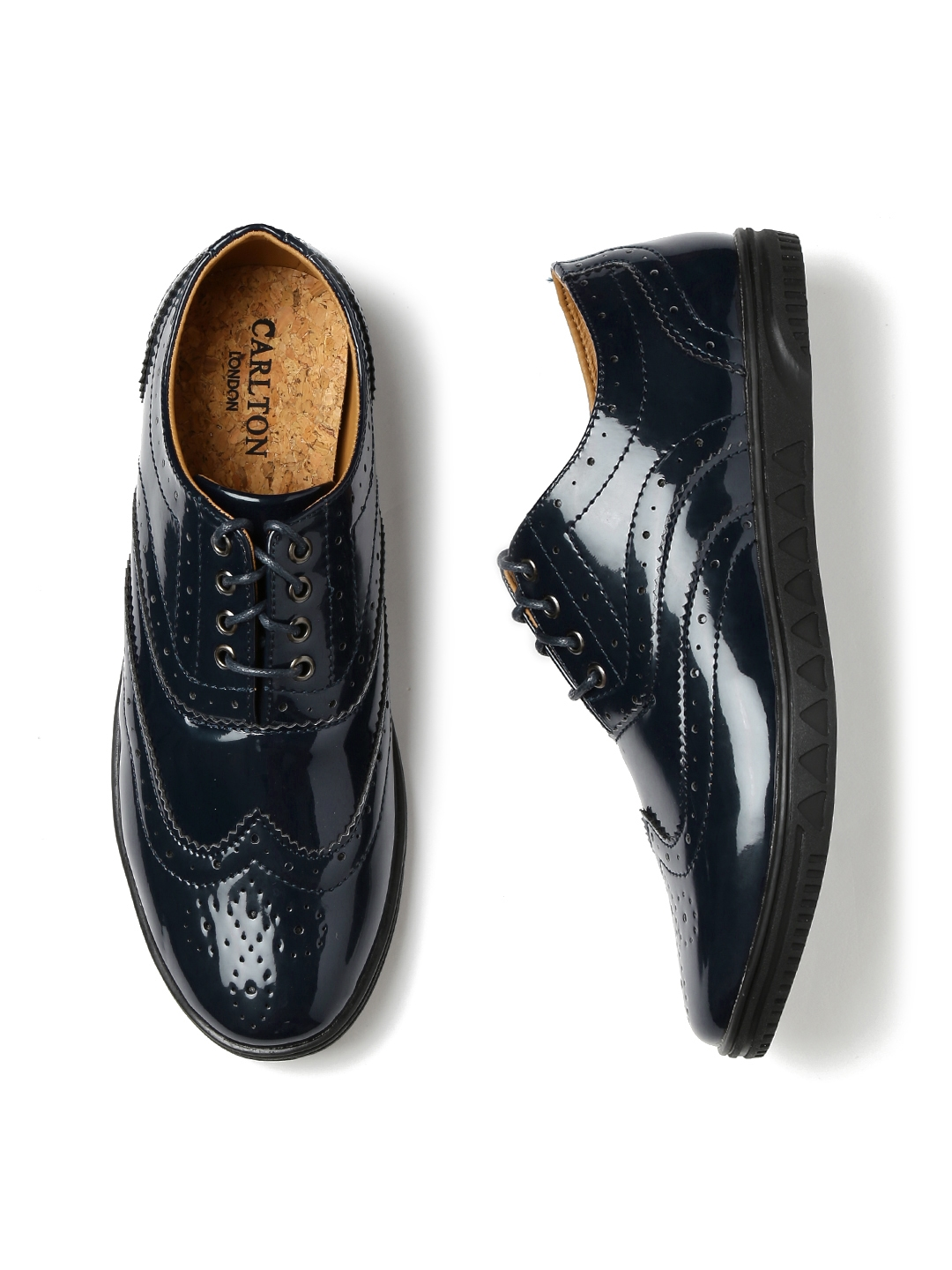 d90e45f0f34 Buy carlton london men navy patent leather brogues casual shoes jpg  1080x1440 Navy patent leather shoes