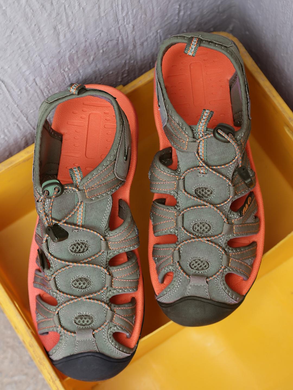 de249026be377c Buy Boltio Men Grey   Orange Sports Sandals - Sports Sandals for Men ...