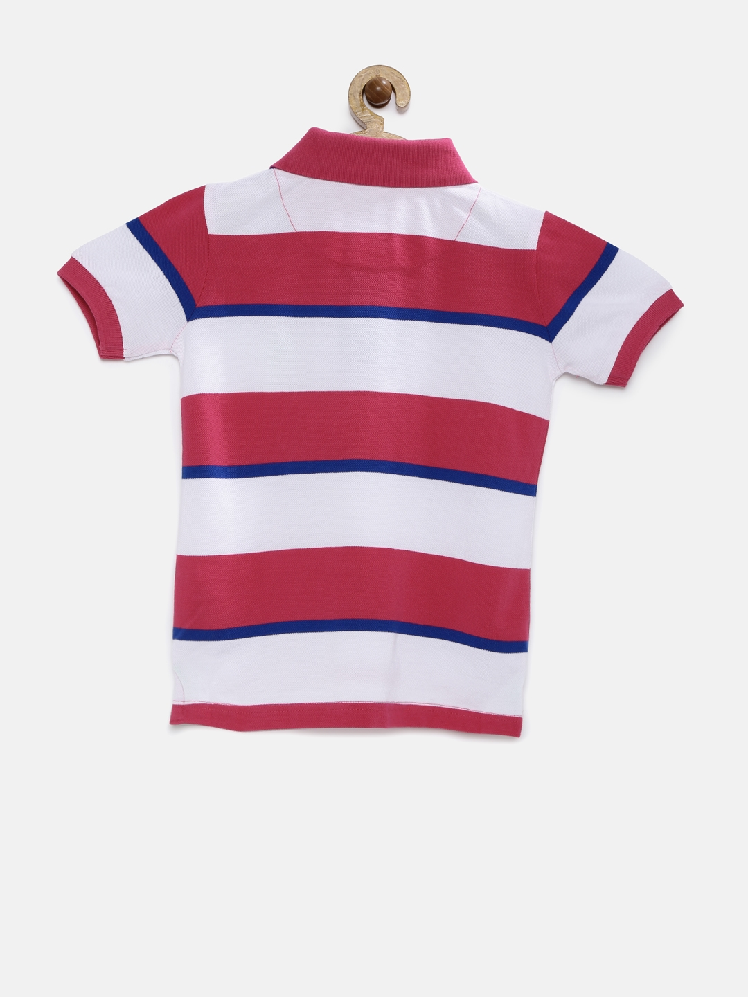 f6c9fe39fa Buy U.S. Polo Assn. Kids Boys White Striped Polo T Shirt - Tshirts ...