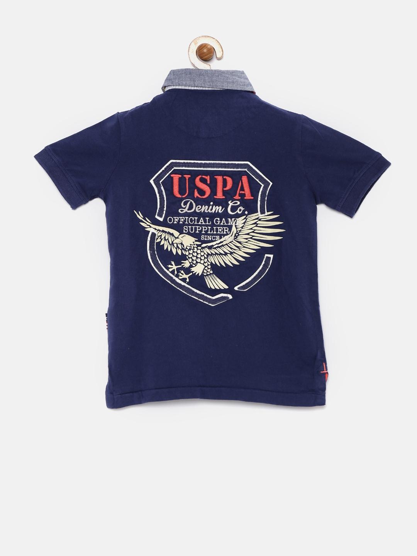 74dee0a2 Buy U.S. Polo Assn. Kids Boys Navy Blue Polo T Shirt - Tshirts for ...