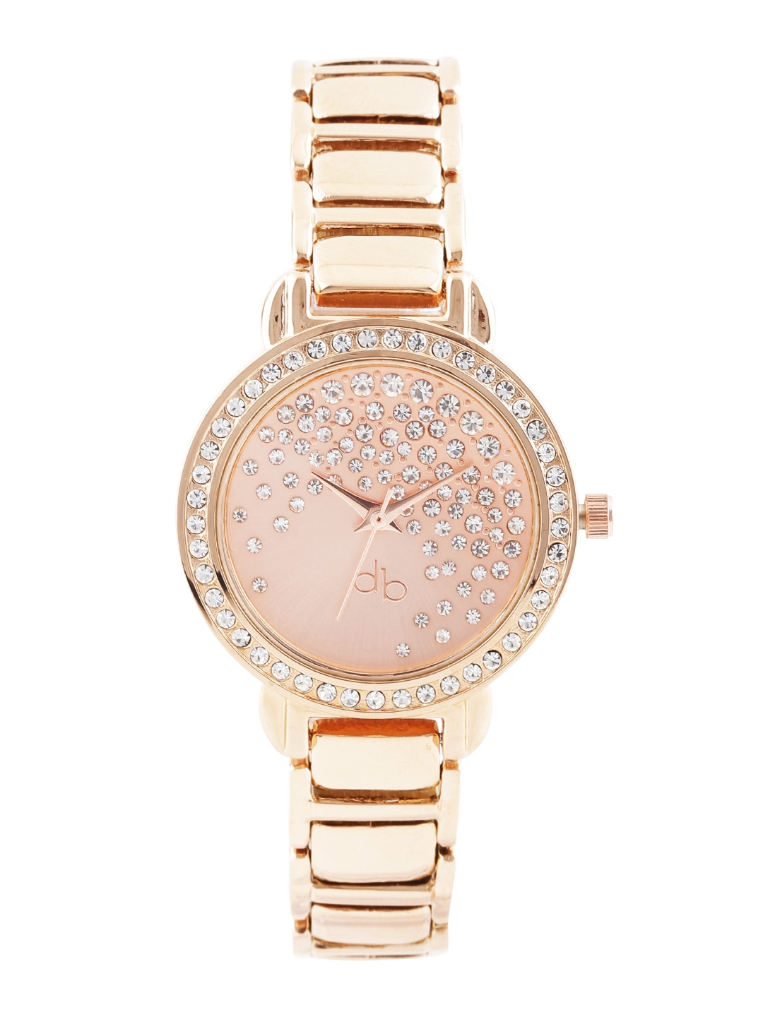 Buy dressberry women rose gold toned dial watch db2 a watches for women myntra for Watches for girls