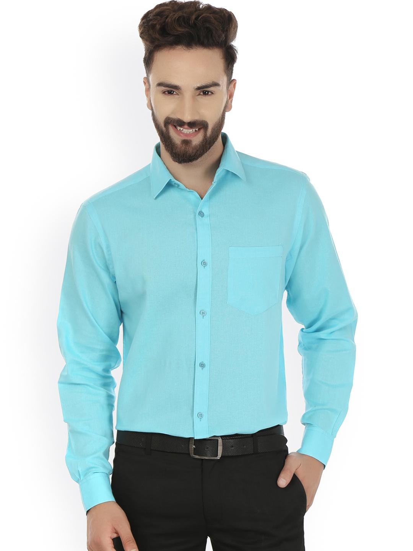 Men Turquoise Blue Shirts - Buy Men Turquoise Blue Shirts online ...