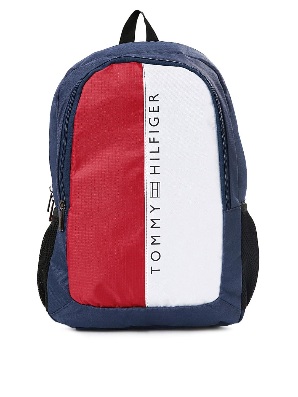 c17bc0d92d2 Buy Tommy Hilfiger Unisex Navy & Red Laptop Backpack - Backpacks for ...