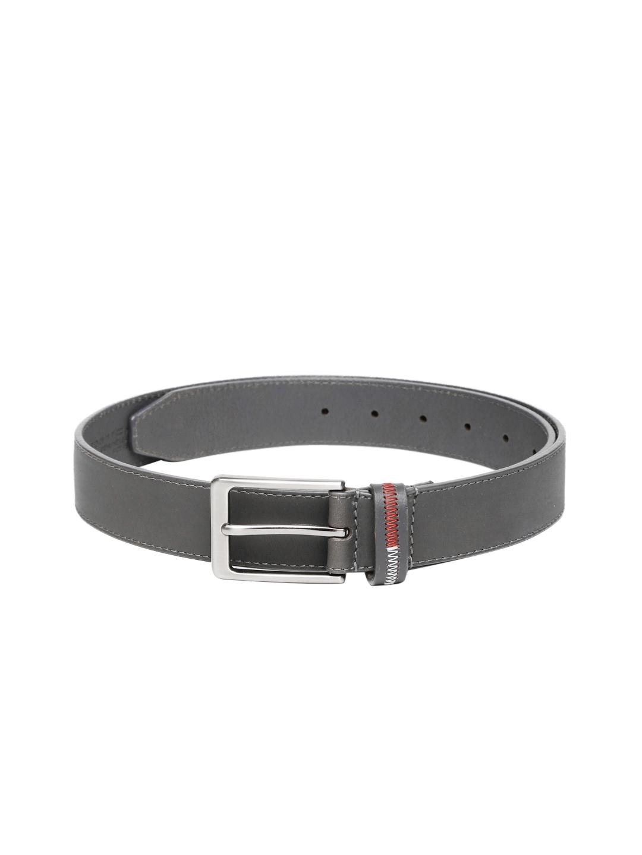 Tommy Hilfiger Men Grey Genuine Leather Belt