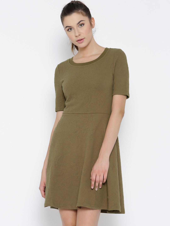 Buy Vero Moda Women Brown Fit   Flare Dress - Dresses for Women ... ddb8dc024711