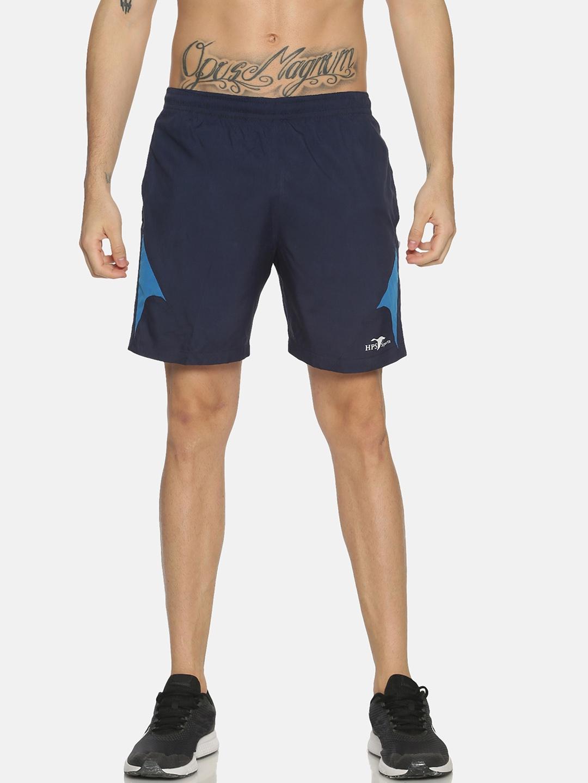 HPS Sports Men Blue Solid Mid Rise Sports Shorts