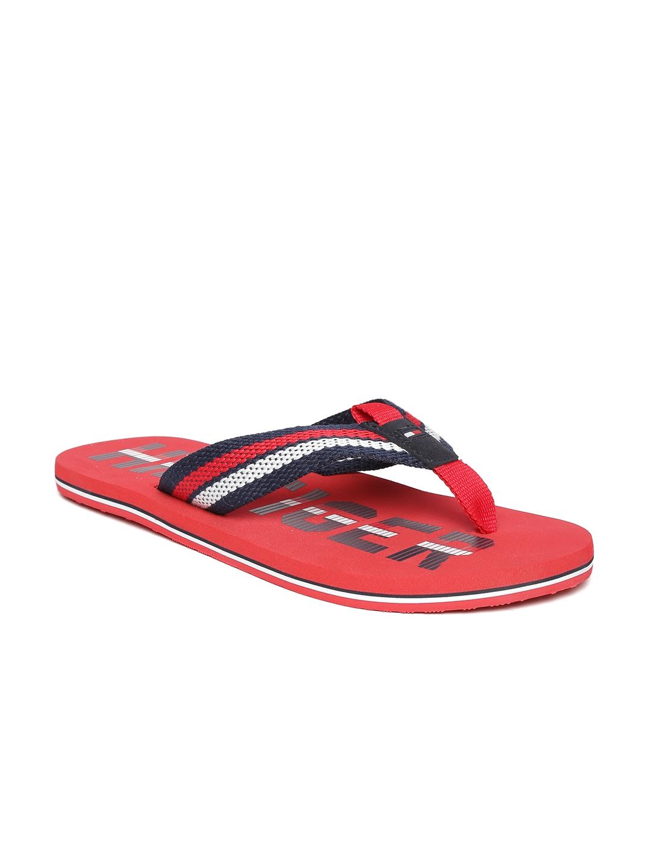 8917ce770a35 Buy Tommy Hilfiger Men Navy   Red Striped   Printed Flip Flops ...