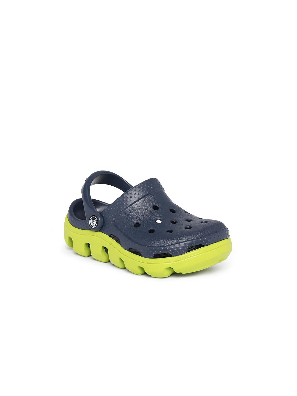 e887c9bdae53 Buy Crocs Kids Navy Duet Sport Clogs - Flip Flops for Unisex 1492041 ...