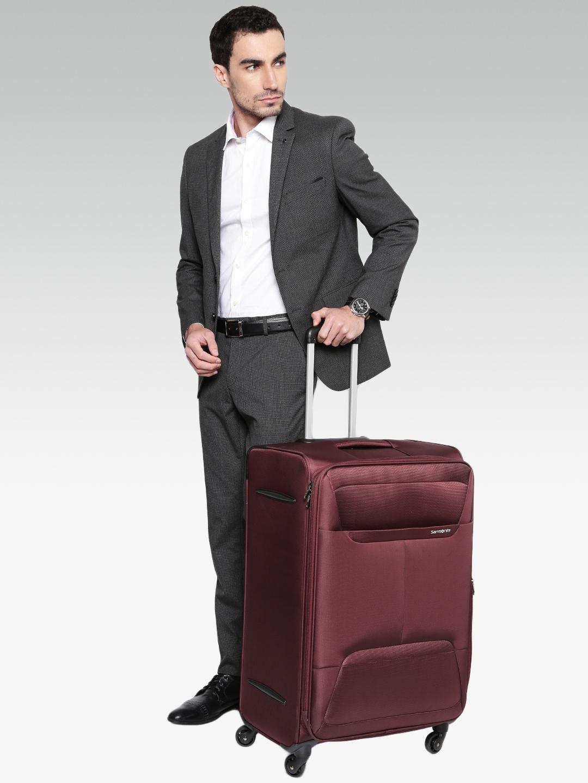 a991e1251f Buy Samsonite Unisex Burgundy Casso Spinner Large Trolley Suitcase ...