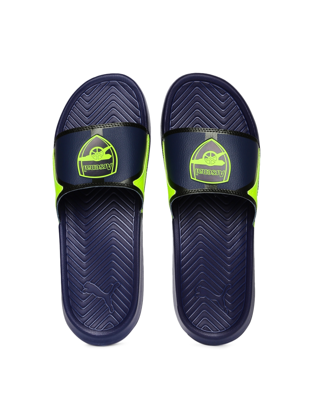 0b11567f89f7 Buy PUMA Popcat AFC Men Navy Printed Flip Flops - Flip Flops for Men ...