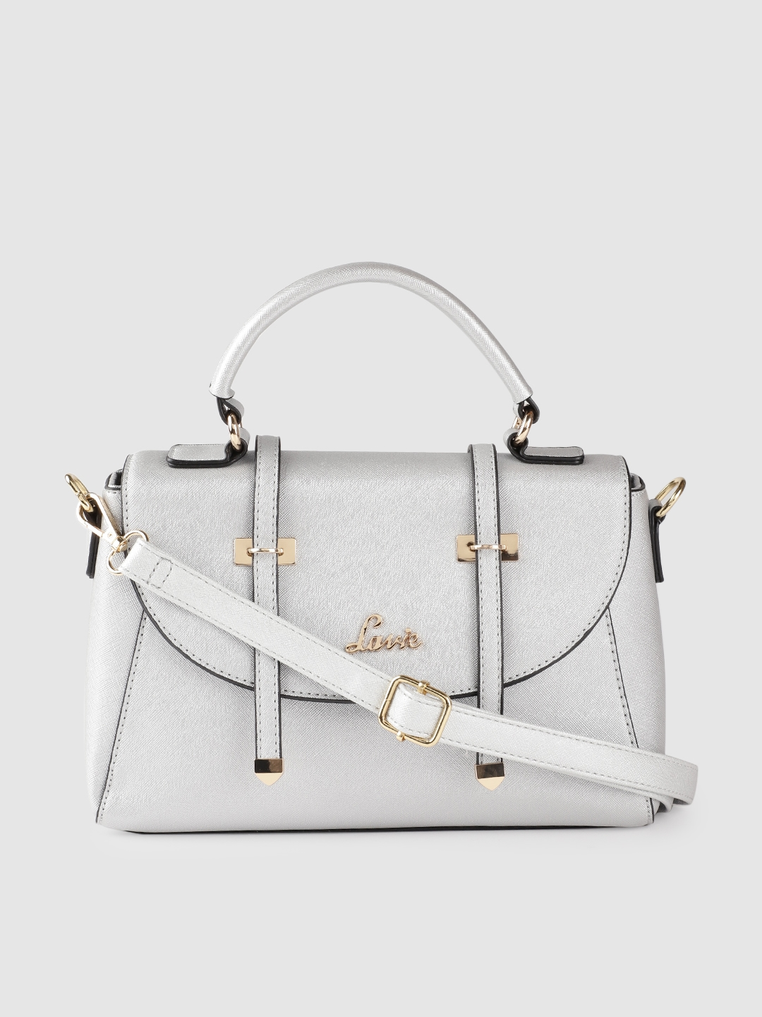 Lavie Silver Toned Solid Satchel