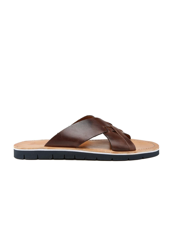 227549a4e432 Buy Clarks Men Brown Pennard Cross Leather Sandals - Sandals for Men ...