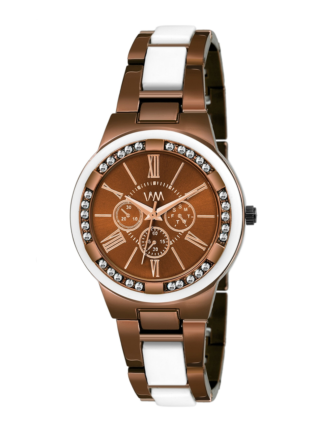 Watch Me Women Brown Embellished Dial   Brown Bracelet Style Analogue Watches Girls PP 024