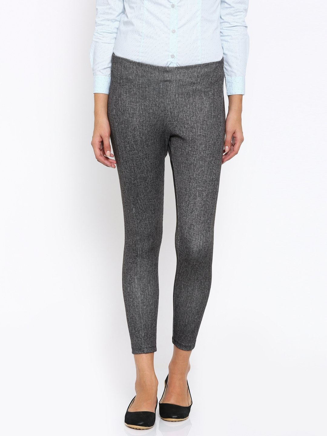 a50f0b1f144688 Buy Annabelle By Pantaloons Grey Printed Treggings - Jeggings for Women  1499379 | Myntra