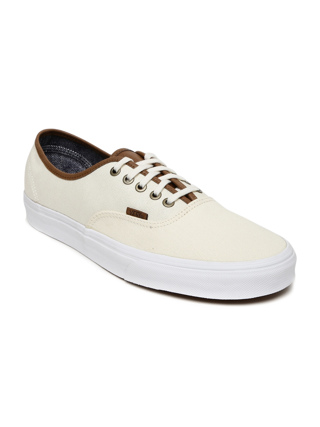 22ac0d763b Buy Vans Unisex Cream Coloured Authentic Sneakers - Casual Shoes for ...