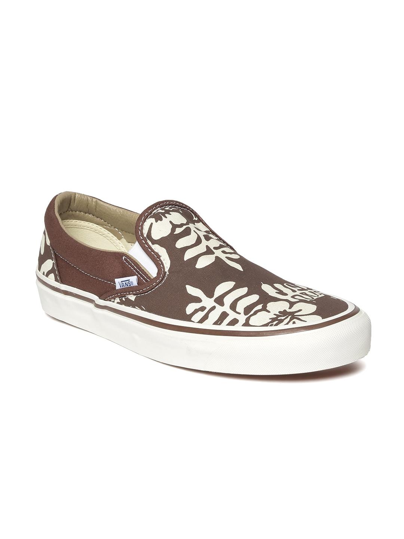 56d21fcf8c Buy Vans Unisex Brown Printed Slip On Sneakers - Casual Shoes for ...