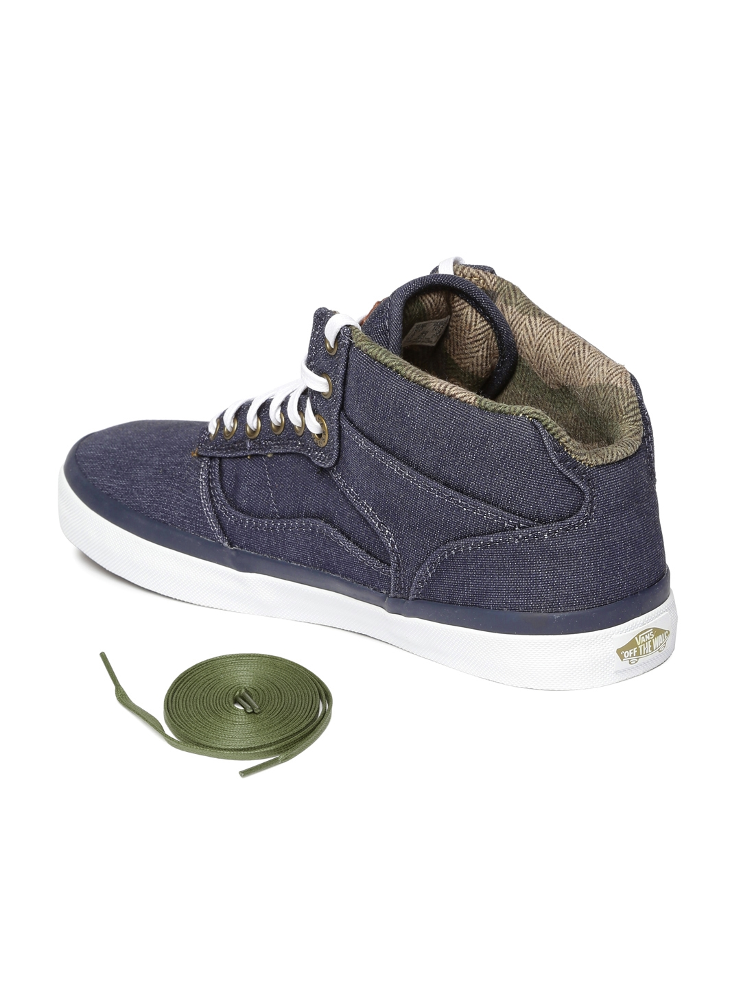 08472a8de6be0 Buy Vans Unisex Blue Solid Bedford Mid Top Sneakers - Casual Shoes ...