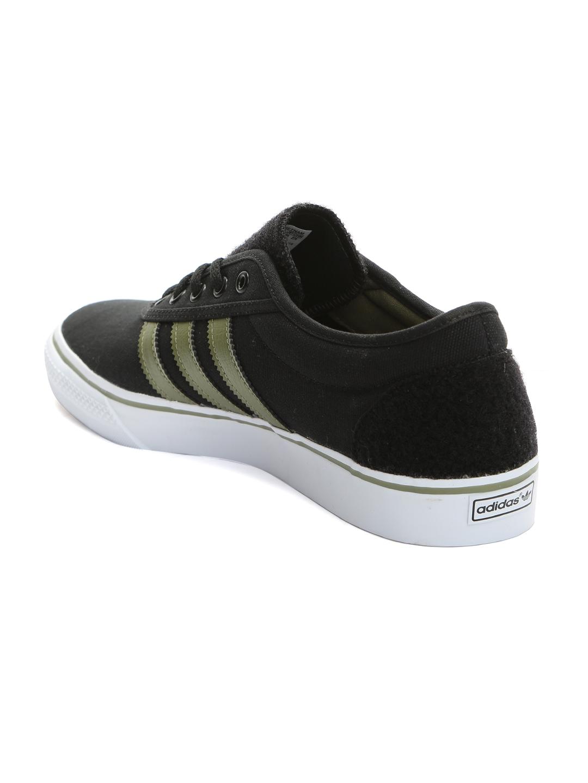 best service 035a0 84ec1 ADIDAS Originals Men Black Woven Adi-Ease Skate shoes
