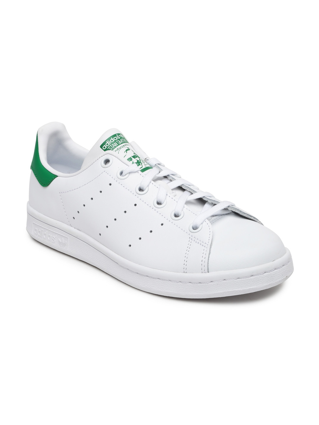 696187ea223e ADIDAS Originals Kids Unisex White Stan Smith CF J Leather Sneakers